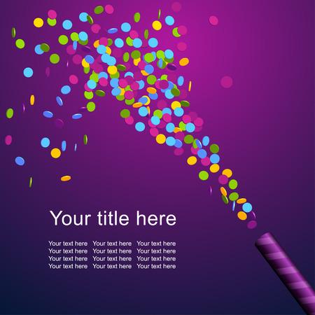 marco cumpleaños: Fondo festivo con confeti de colores