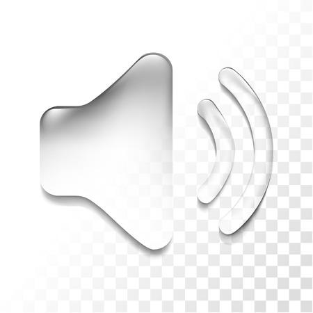 Transparent sound icon