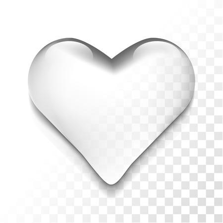 Transparent heart icon