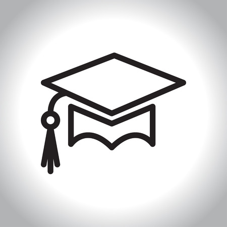 successful student: Education icon in line style