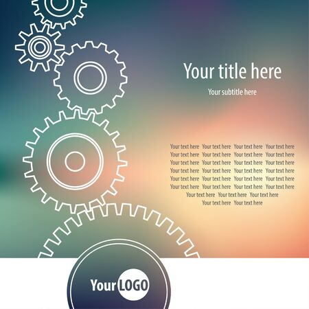 mechanism: Abstract background with gear wheels Illustration
