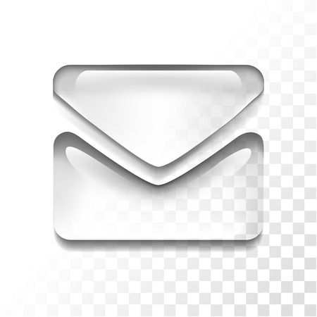 Transparante mail icon
