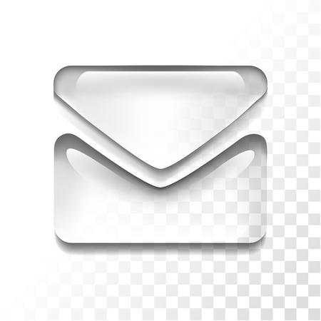 Transparent mail icon
