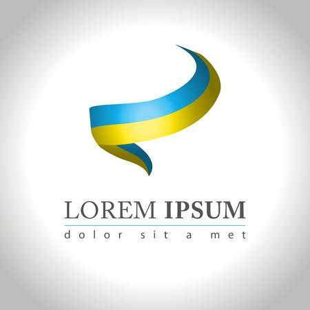 round logo: Abstract web Icon and logo sample, vector illusration