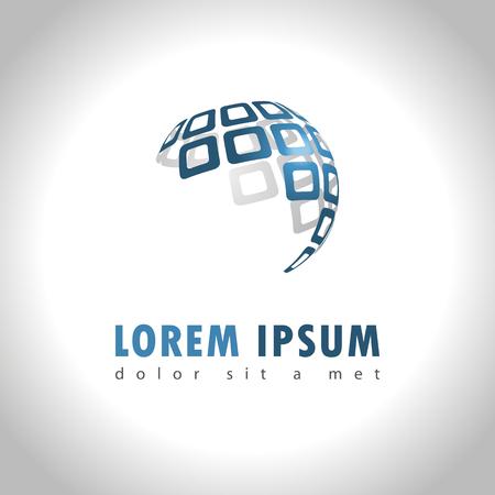 globe terrestre: Icône Web Résumé et le logo échantillon, vecteur illusration