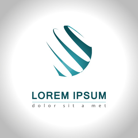 logos empresa: Icono abstracto del Web y el logotipo de la muestra, vector illusration