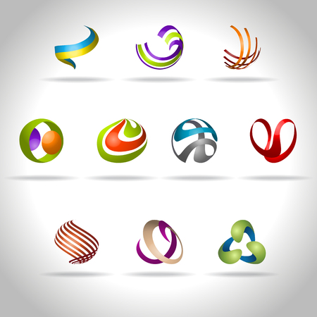spiral: Abstract web Icon and logo sample, vector illusration