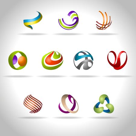 espiral: Icono abstracto del Web y el logotipo de la muestra, vector illusration