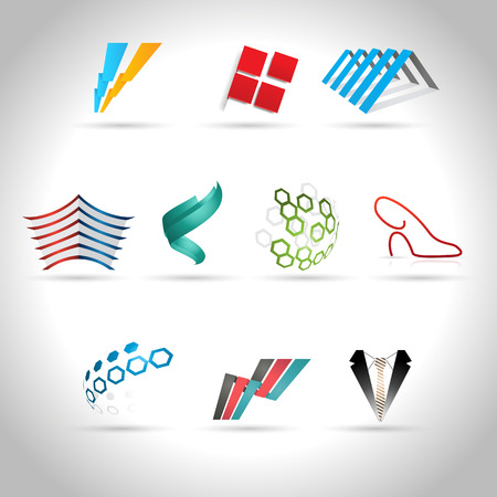 banded: Abstract web Icon and logo sample, vector illusration