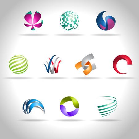 esfera: Icono abstracto del Web y el logotipo de la muestra, vector illusration
