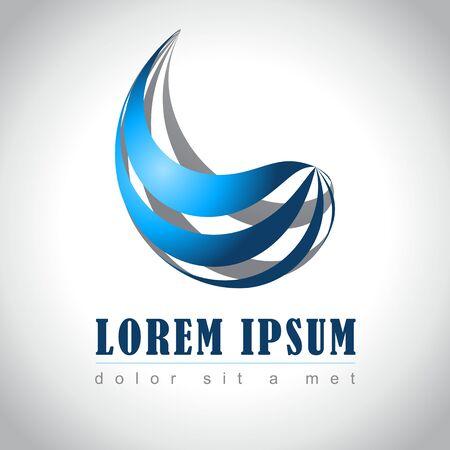 blue logo: Abstract web Icon and logo sample, vector illusration