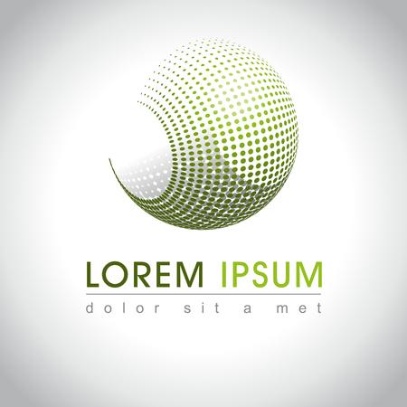 Icono abstracto del Web y el logotipo de la muestra, vector illusration Foto de archivo - 45658837