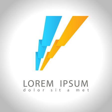 energy logo: Abstract web Icon and logo sample, vector illusration