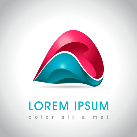 sphere logo: Abstract web Icon and logo sample, vector illusration