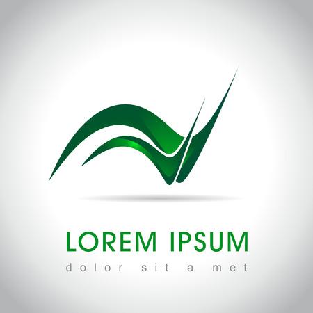 logo ecology: Abstract web Icon and logo sample, vector illusration