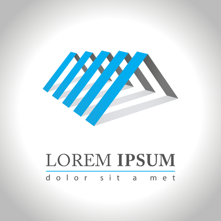 Abstract web Icon and logo sample, vector illusration