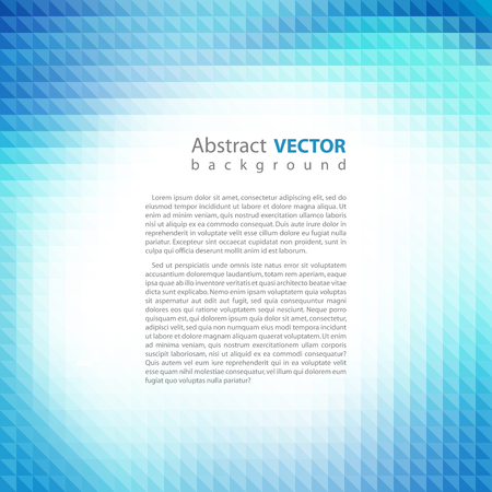 cool colors: Abstract blue pixel mosaic background, vector illustration