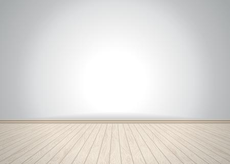 Empty room with wooden floor, vector illustration Vectores