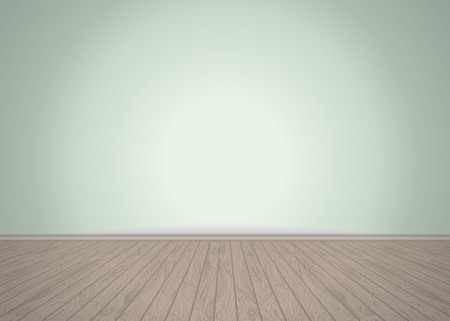 Empty room with wooden floor, vector illustration Illustration