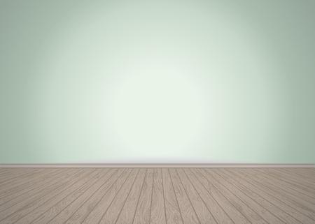 Lege ruimte met houten vloer, vector illustratie Stock Illustratie