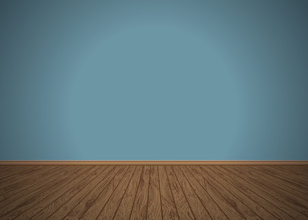 Empty room with wooden floor, vector illustration Ilustrace
