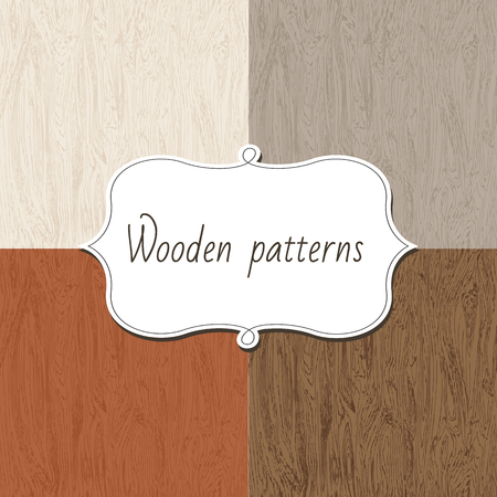 seamless background: Abstract wooden seamless background texture, vector illustration