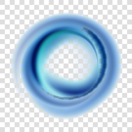 Abstract smoke blur blue circle colorful background, illustration