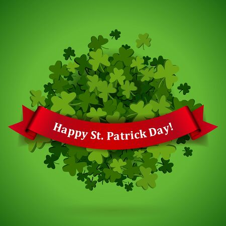 irish landscape: Abstract bright green clover leaves background for St. Patricks Day