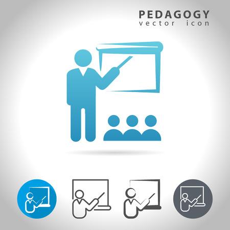 pedagogy: Pedagogy icon set, collection of education icons, illustration Illustration