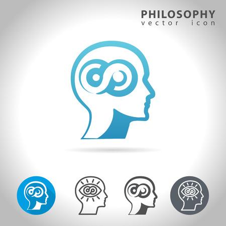 philosophy of logic: Philosophy icon set, collection of philosophy icons,  illustration Illustration