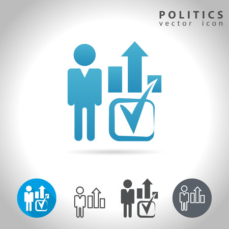 politics: Politics icon set, collection voting symbols, illustration Illustration