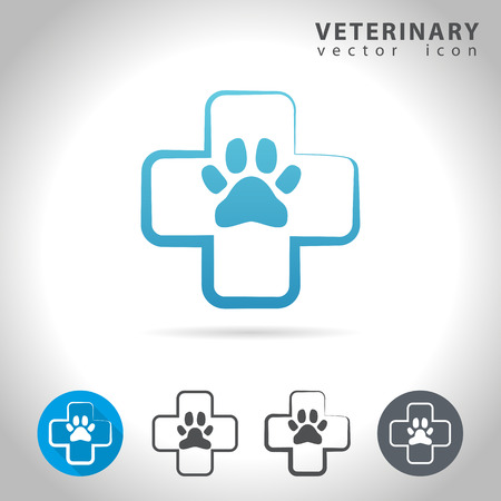 veterinary icon: Veterinary icon set, collection of pet health icons, illustration