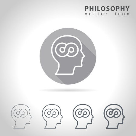 Philosophy outline icon set, collection of philosophy icons, vector illustration Ilustrace