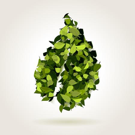 fresh concept: Abstract green fresh leaf concept, vector illustration Illustration