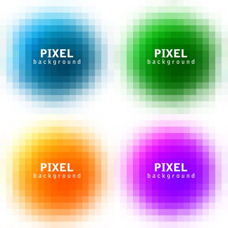 pixelate: Set of abstract pixel colorful backgrounds