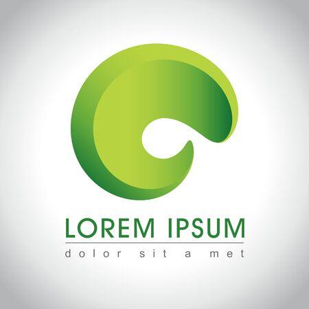 green swirl: Abstract green swirl logo sample