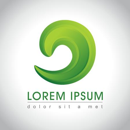 green swirl: Abstract green swirl logo sample, vector illustration