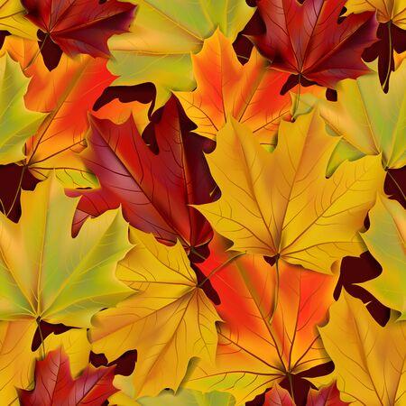 Herfst laat naadloze realistische textuur, illustratie Stockfoto - 63247676