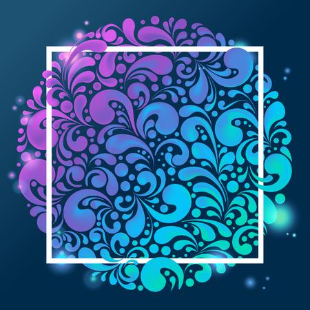 Abstracte glanzende gloeiende kleurrijke achtergrond Stock Illustratie