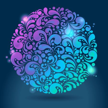 Abstracte glanzende gloeiende kleurrijke achtergrond, illustratie