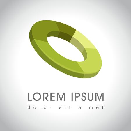 Abstracte groene cirkel pictogram voorbeeld, illustratie