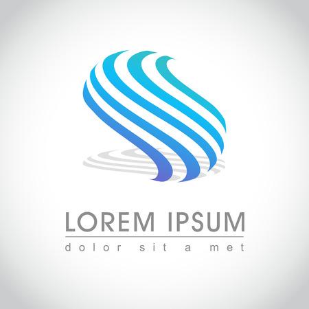 Abstract ronde gestreept logo voorbeeld, illustratie Stock Illustratie