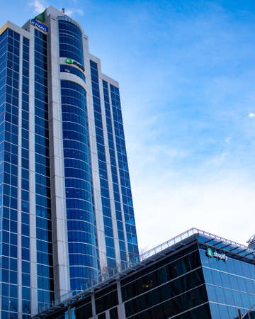 OTTAWA, ONTARIO, CANADA - 2/5/2020: The headquarters of Shopify Inc. (TSX: SHOP, NYSE: SHOP) in a downtown Ottawa office tower. Editorial