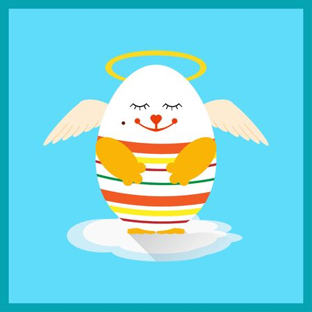 aureola: Vector illustration of Holly Easter egg with wings Illustration