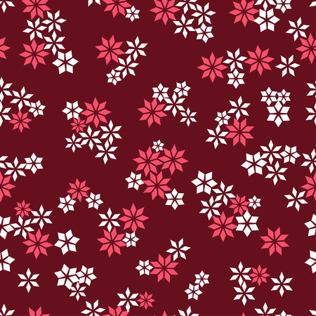 Flower star seamless pattern for fabric print, wallpaper, background - vector illustration Vector