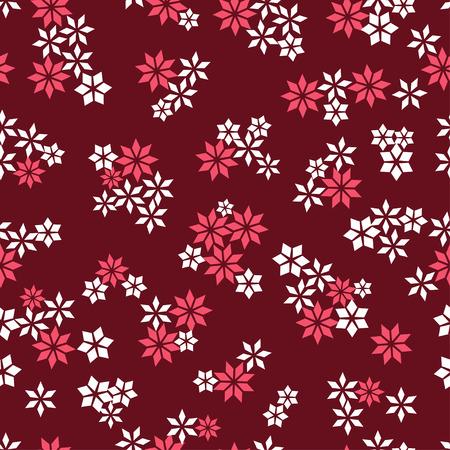 Flower star seamless pattern for fabric print, wallpaper, background - vector illustration Vector