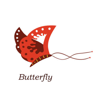 butterfly isolated: Bright isolated butterfly