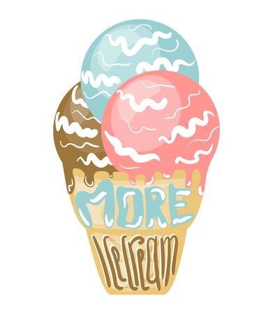Poster with ice cream illustration Иллюстрация