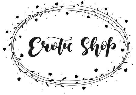 Hand drawn illustration. Erotic shop. Ilustrace