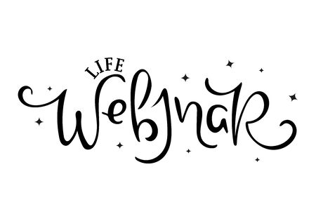 Life Webinar. Hand drawn illustration. Ilustração